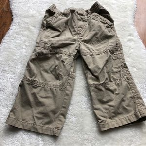 Boys convertable pants - roll up or wear down 24M